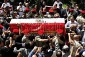تشييع جنازة شهيد العريش في قرية تلات بمركزالفيوم