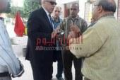 عجلان خلال زيارة لمدارس غرب شبرا الطلاب امانه في ايدينا