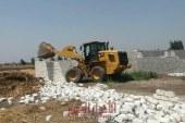 إزالة 13 حالة تعدي علي الأراضي الزراعية بمركز كوم حماده البحيرة
