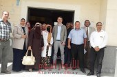 وفد الاتحاد الأوربي المشترك للتنمية الريفية يقوم بزيارة لوحدة ابودنقاش الصحية