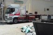 منظر غيرلائق تراكم القمامه بجوار مسجدالنحاس طريق موقف طلعت حرب بالمحلة