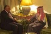 """علي هامش إجتماعات المجلس الوزاري العربي """"وزيرا خارجية مصر والسعودية"""" يناقشا عددا من الملفات الإقليمية"""