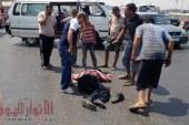 مصرع شخص فى حادث اصطدامه بسيارة ميكروباص بالقرب من محطة الشعراوي بالمحلة الكبري