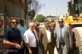 """إستجابة للاهالى """"السقعــان"""" يتفقد أعمال رفع كفاءة شارع المــدارس بإمبابة"""