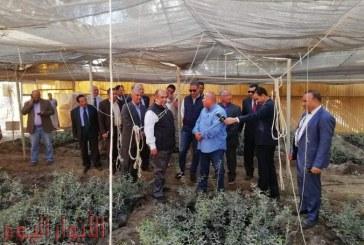 وزير الزراعة ومحافظ الفيوم يتفقدان مزرعة كوم أوشيم ومحطة الزراعة الآلية بأطسا