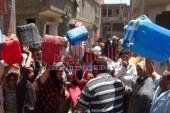 """#كارثة إنسانية بسبب إنقطاع المياه بقرى وأحياء مركز """"سنورس"""" الفيوم لليوم الثالث على التوالى."""