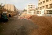تطوير الطرق بحي شرق شبرا الخيمة