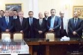 وزير التموين يجتمع بأعضاء مجلس إدارة الشركة القابضة للصناعات الغذائية.