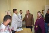 سعدالفيوم يتابع أعمال حملة مسح فيروس ( c ) لطلاب الجامعة الجدد