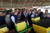 وزير الزراعة ومحافظ الفيوم يتفقدان محطة إطسا للزراعة الآلية